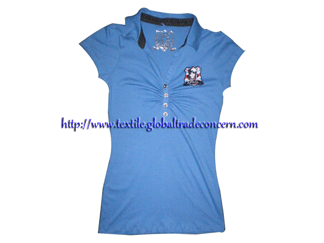 Lady's Knit Polo Shirt